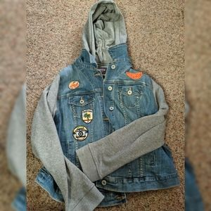 Torrid Premium Mock Layer Patched Jean Jacket